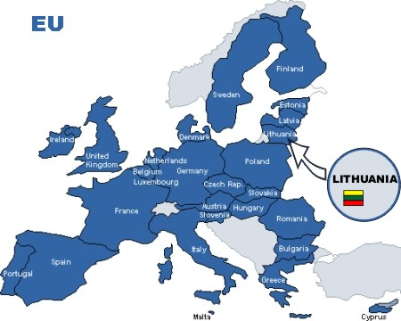 Lithuania On Europe Map.Europe Map Turbobaltic Lt